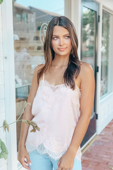 Lace and Love Camisole Blush
