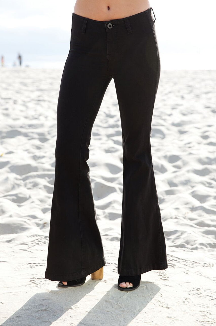 Free People Flare Jean In Black
