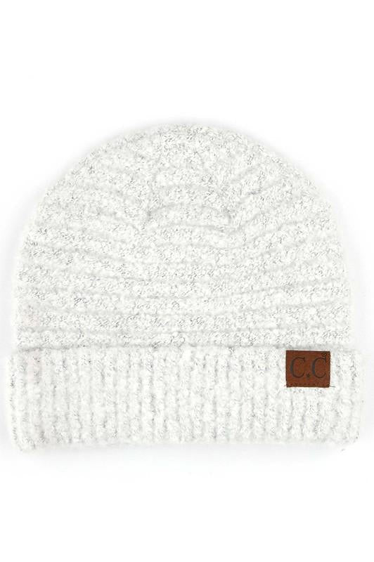 CC Beanie Yarn With Cuff White