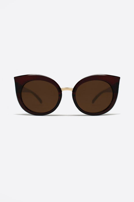 Quay Dream Of Me Sunglasses In Brown