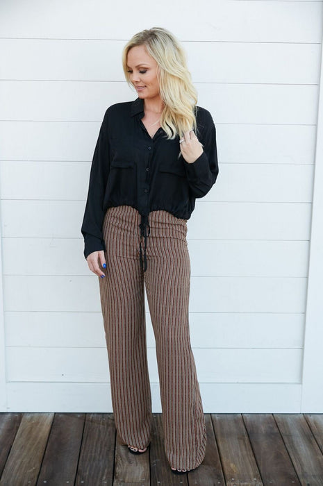 Happy Hour Party Striped Pants