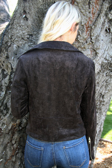 Jessica Black Suede Jacket
