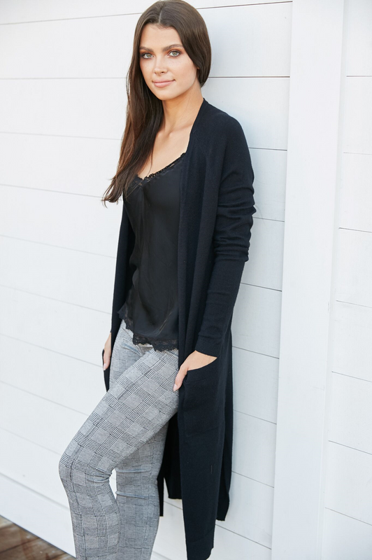 Haute Long Cardigan Black