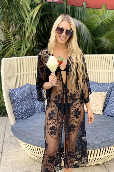 Sweet Thing Lace Cardigan Black