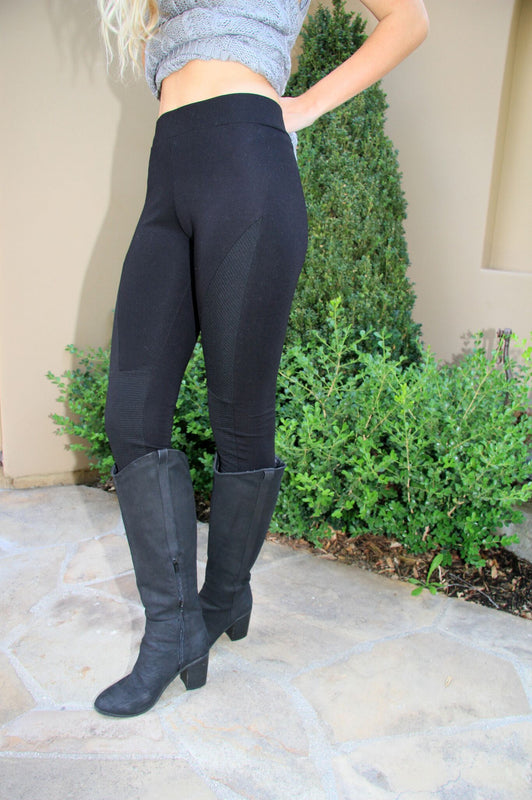 Black Moto Leggings