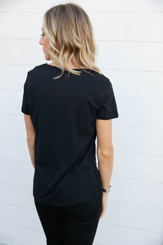 The Essential Pocket Tee Black