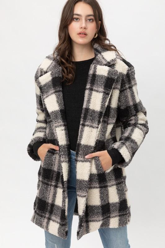 Walking in Winter Plaid Coat