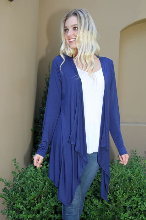 Easy Breezy Lightweight Cardigan Blue