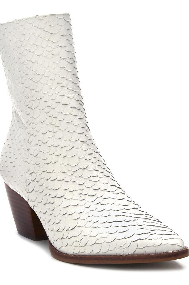 Matisse Caty White Snake Booties