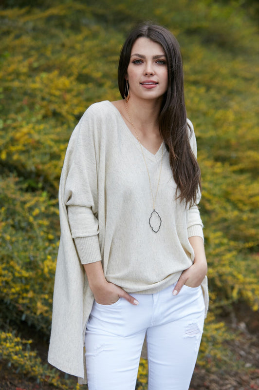 Sandy Toes Casual Pullover Cream