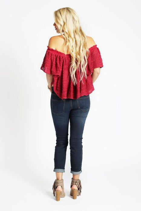 Free People Frills and Thrills In Raspberry