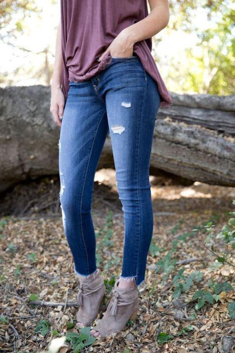 Uneven Edge Flying Monkey Jeans