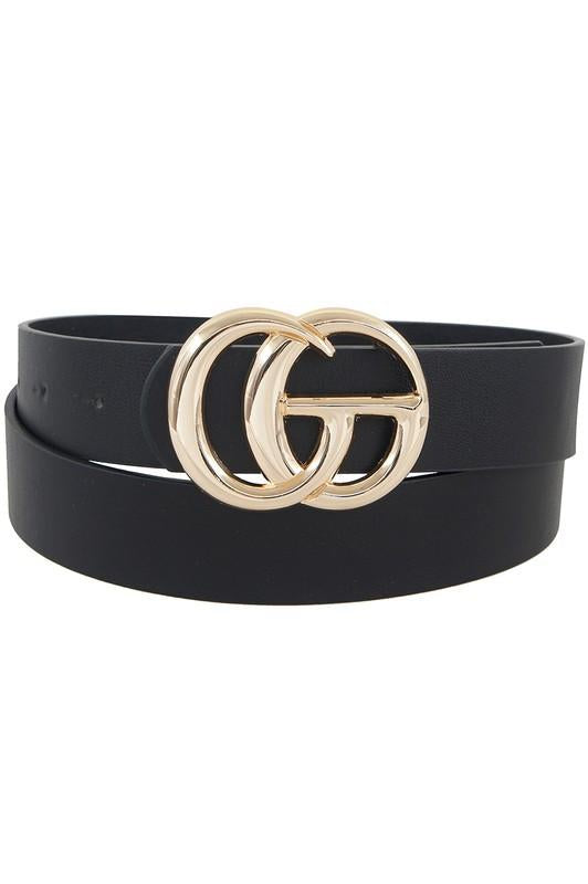 GG Buckle Belt Black