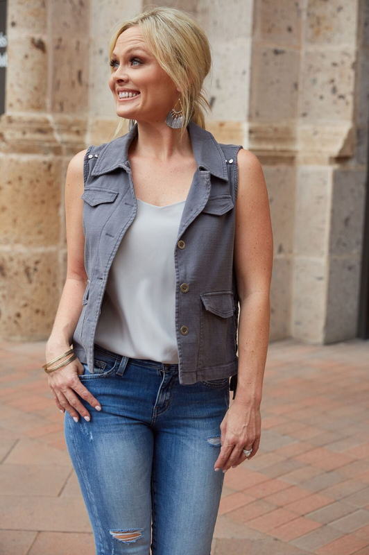 Trevi Fountain Vest Grey