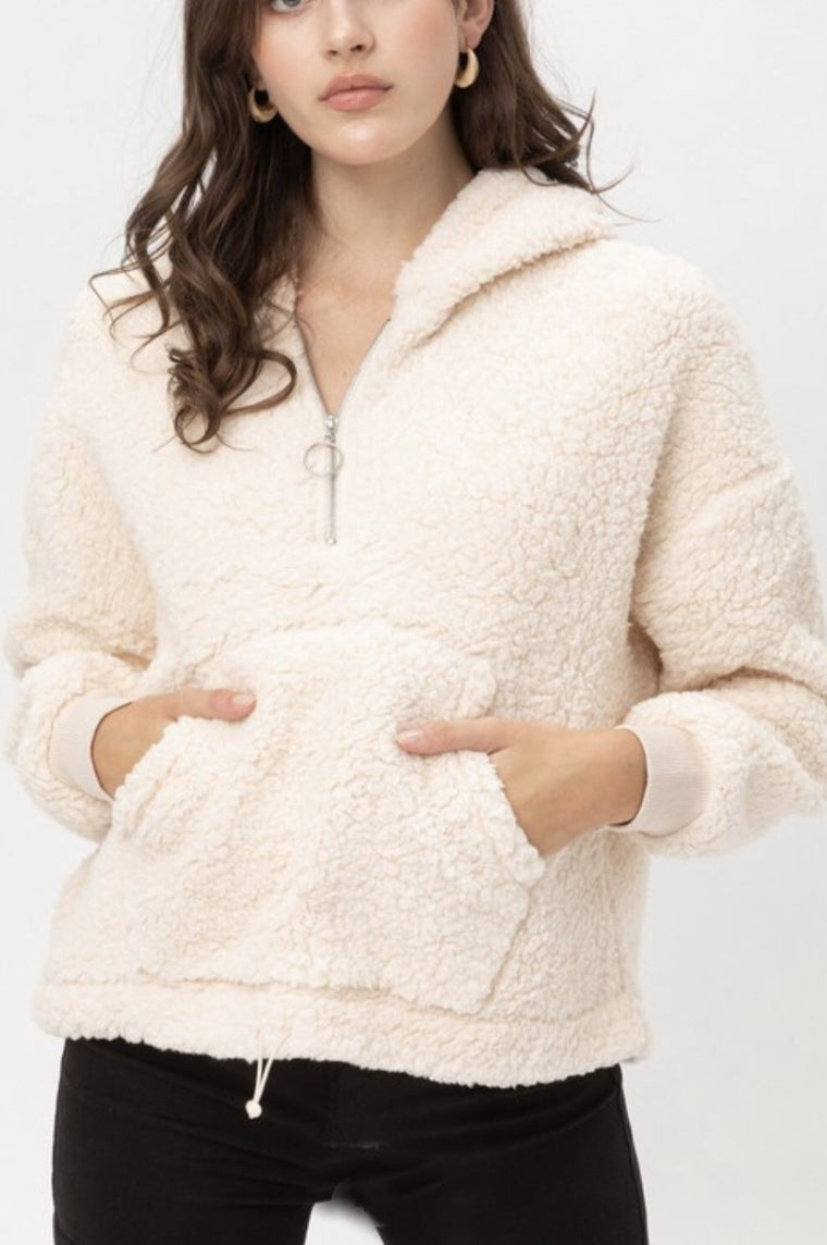 Snow Bunny Sherpa 1/4 Zip Jacket