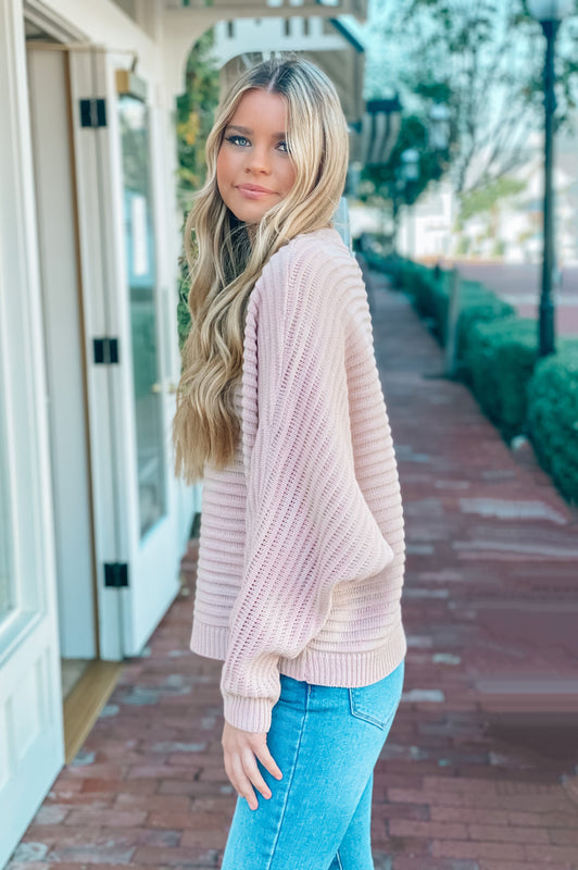 Love Romance Sweater Blush