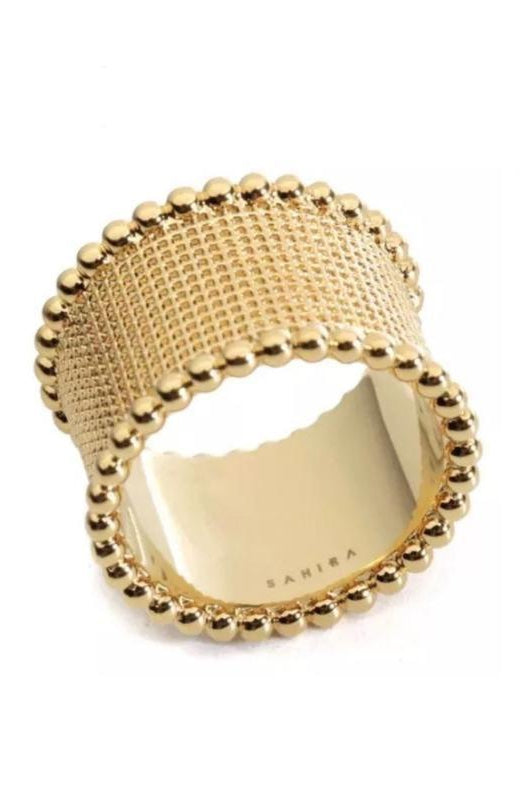 Hammered Band Ring Gold