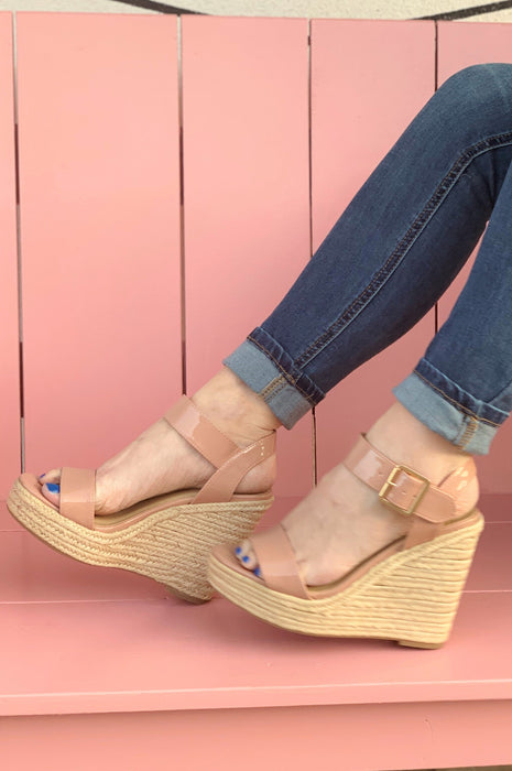 The Sammy Patent Wedge Blush