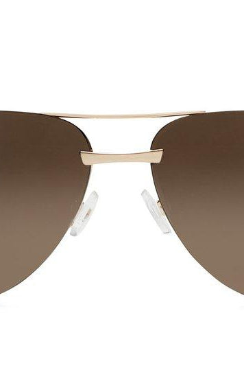 Quay Australia La Playa Sunglasses in Gold with Brown Lens