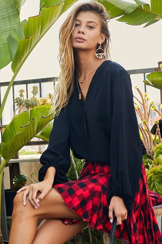 PRE-ORDER All the Plaid Ruffle Skirt