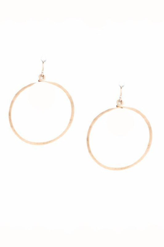 Hammered Hoops Small 14K Gold Plate or Sterling Silver Plate