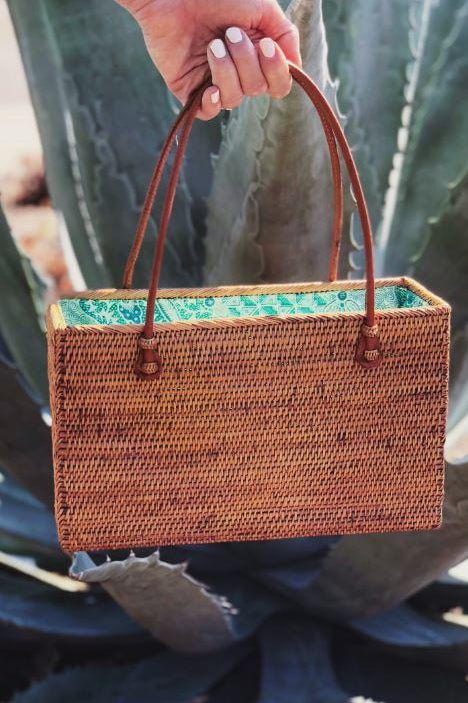 Island Hopping Wicker Bag