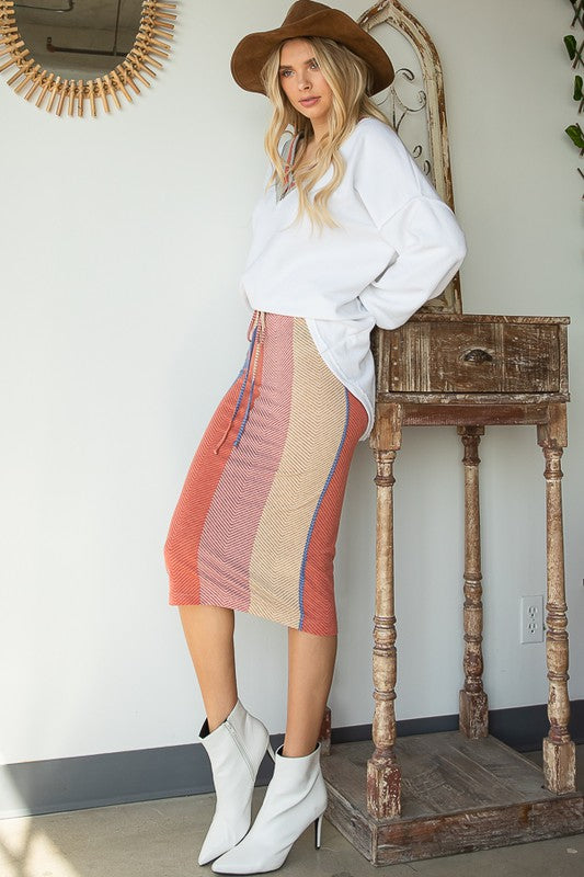 Macy Striped Skirt