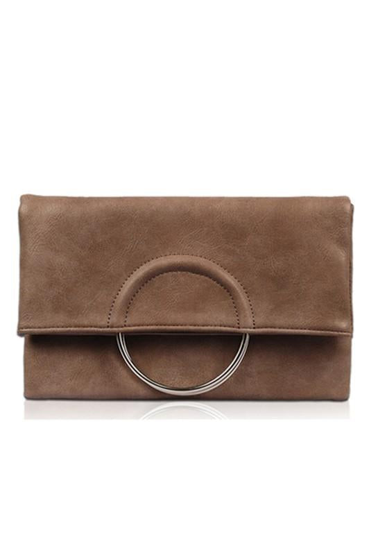 Rockefeller in Hand Clutch Taupe