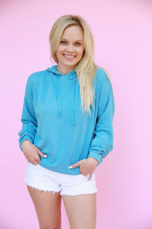 Weekender Pullover Turquoise