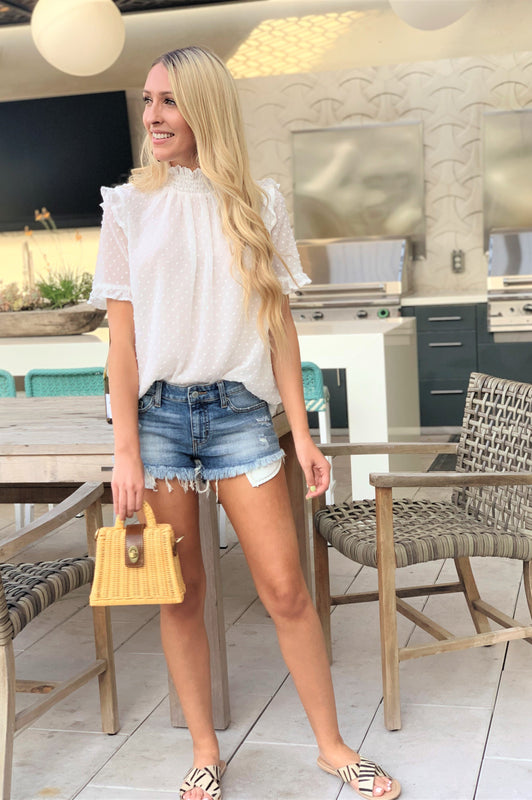 White Frosting Blouse