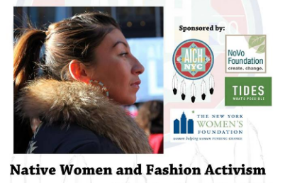 Native Women and Fashion Activism Workshop in NYC