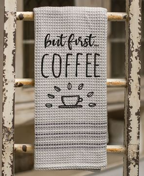 But First...Coffee Dish Towel