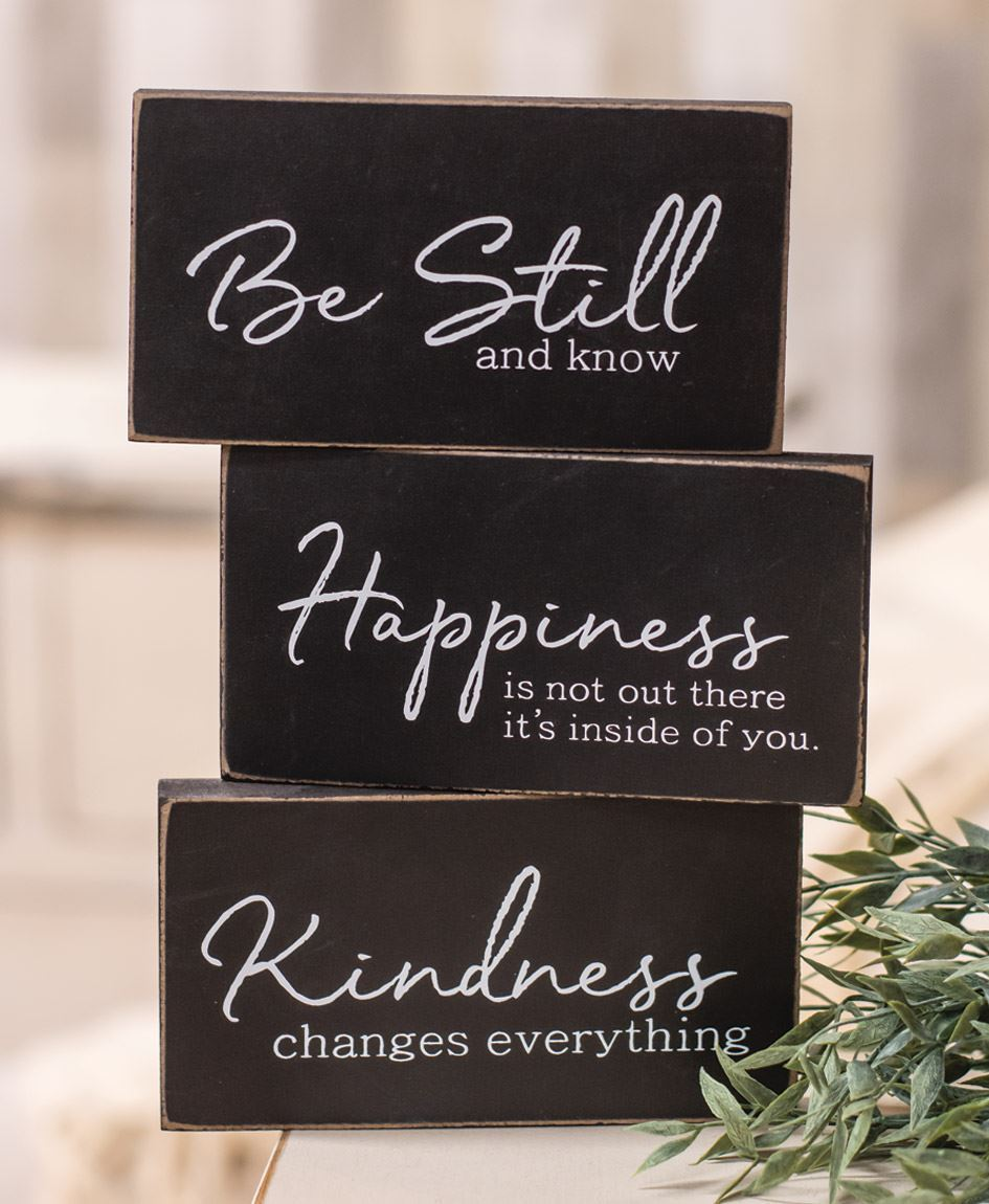 Kindness Changes Everything Wooden Block, Asst