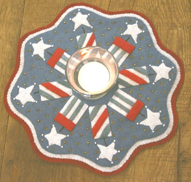 Bareroots Firecracker Candle Mat Kit