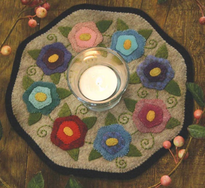 Bareroots Flowers Candle Mat Kit