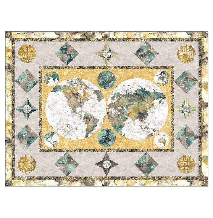 The Cartographer Quilt Kit