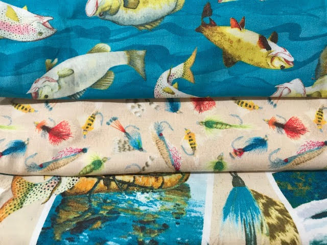 Gone Fishing 3 Yd Fabric Medley