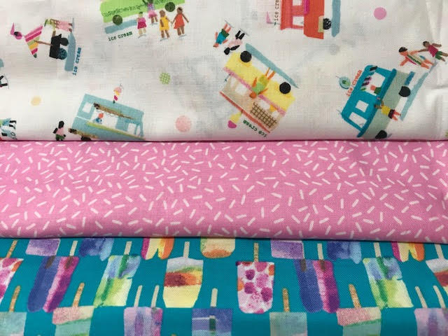 We All Scream for Ice Cream 3 YD Fabric Medley
