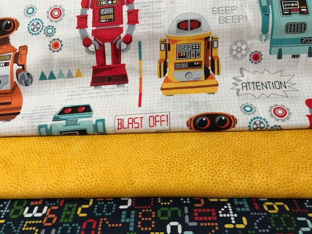 Robots & Circuit Boards 3 Yd Fabric Medley