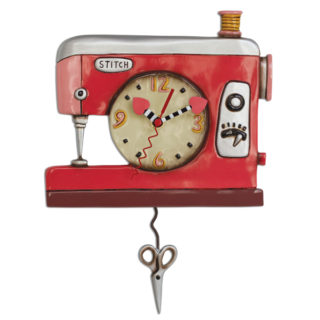 Double Stitch Sewing Machine Pendulum Clock