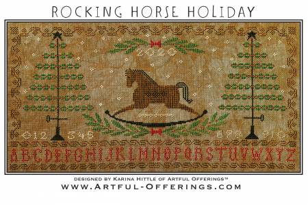 Rocking Horse Holiday Cross Stitch