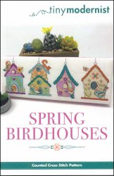 Spring Birdhouses Cross Stitch