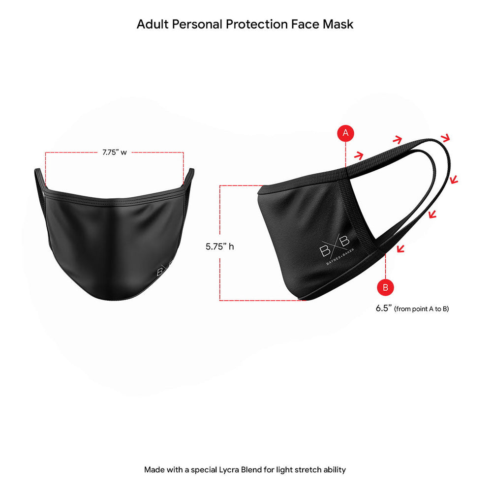 4 Color Personal Protection Mask Bundle Pack