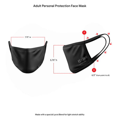 4 Pack - Personal Protection Face Masks (Adult)