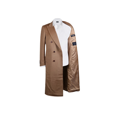 Double Breasted Tan Cashmere overcoat