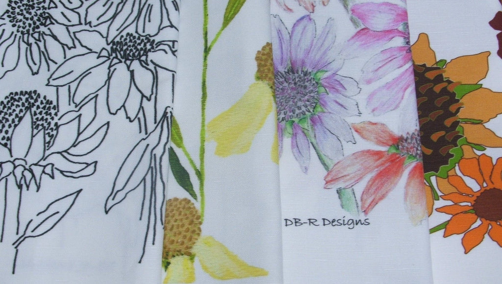 Echinacea study into tea towels!