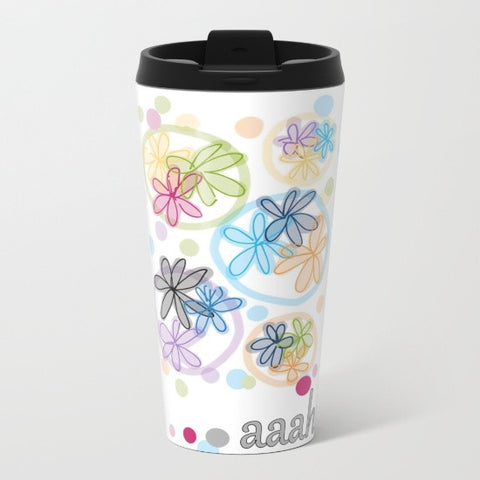 Aaahh Design Series Metal Travel Mug