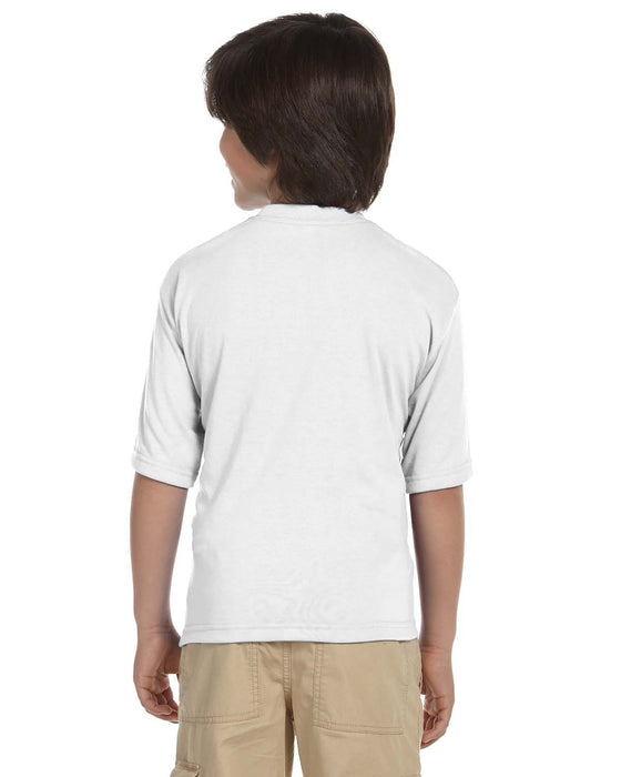 Youth Crew Neck Short Sleeve T-Shirt - White
