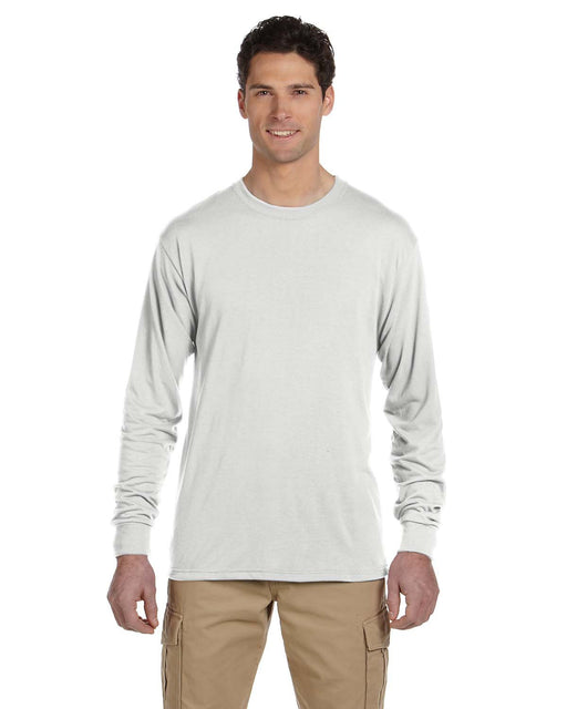 Unisex Crew Neck Long Sleeve T-Shirt - White