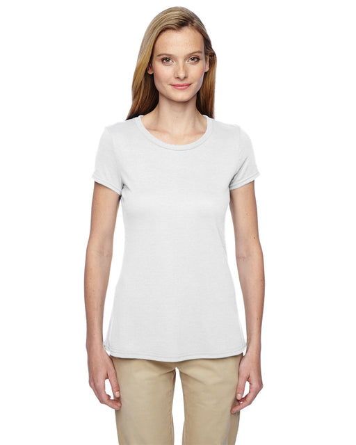 Women's Crew Neck Short Sleeve T-Shirt - White